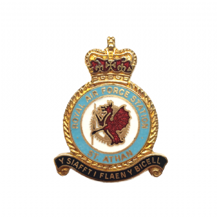 Royal Air Force RAF Station St Athan Lapel Badge